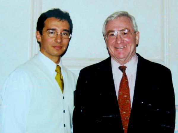 Alfredo Besosa con Herbert Benson